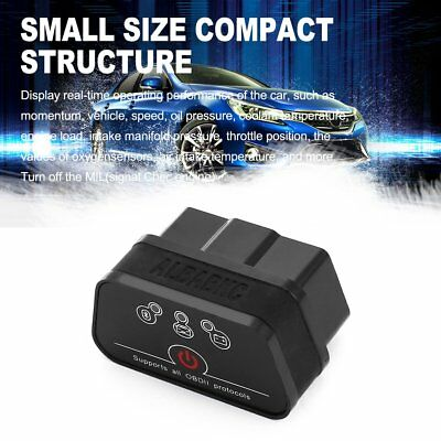 Bluetooth/WIFI Quick OBD OBD2 Code Reader Car Diagnostic Tool for IOS Android AU
