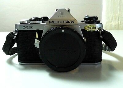 Pentax ME Super 35mm SLR Film Camera Body Only For Parts Or Repair Untested