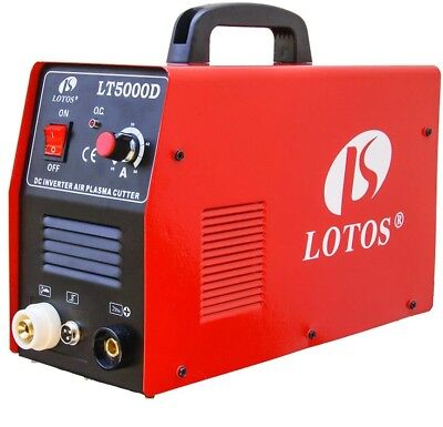 Lotos 50 Amp Compact Inverter Plasma Cutter for Metal, 110/220V, 1/2 Clean Cut
