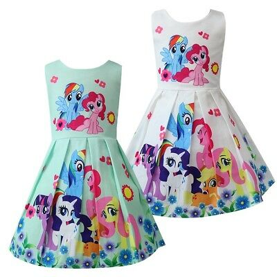 Girls Skater Dress Kids My Little Pony Print  Casual Party Birthday Dresses L26