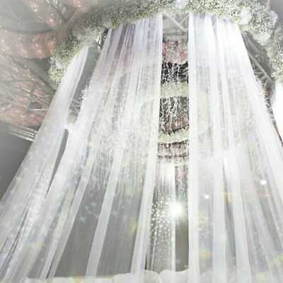 Elegant 10M Wedding Backdrop Gauze Curtain Organza Wedding Party Venus Decor DIY
