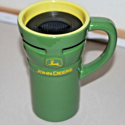 John Deere  Green Ceramic Travel Mug Cup 10 Oz With Lid  -  Officially licensed