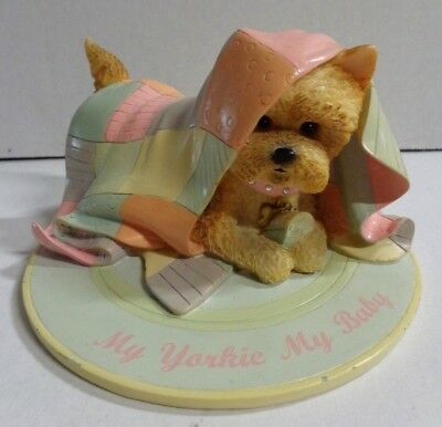 Hamilton Collection My Yorkie My Baby Figurine