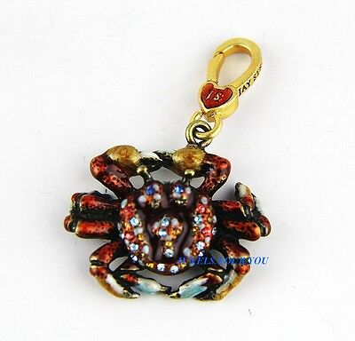 Jay Strongwater Charming Crab Charm Swarovski New Original Box Made In Usa