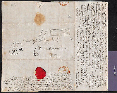 MS1791 1839 GB SUFFOLK *Southwold Penny Post* Entire Letter Broadstairs Kent