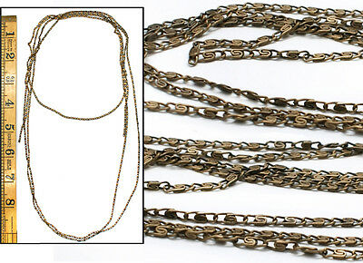 Vintage Czech 1920's Brass Game of Thrones Jewelry DIY Filigree Link CHAIN 6 FT