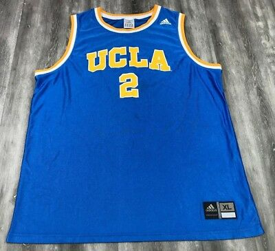 887ddef7231 ADIDAS UCLA BRUINS #2 NCAA Blue Yellow College Basketball Jersey XL ...