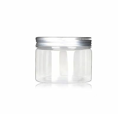 120ml/4 Oz Jars PET Plastic Empty Cosmetic Containers Cases with Silver Alumi...