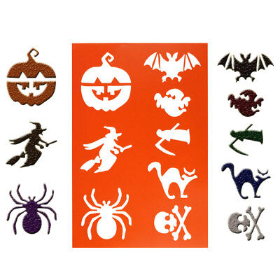 halloween flower layering stencils spray template diy wall drawing card decor UK