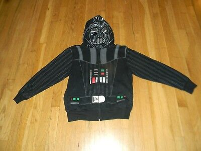 Darth Vader Star Wars kids L hoodie full face zip up jacket boys youth black