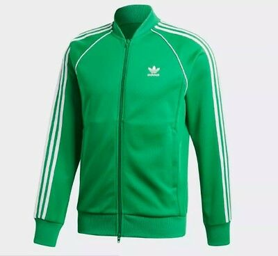 best service 4c9fd 96dee New Men s Adidas Originals Superstar Track Jacket ~Size Medium  cw1259 Green