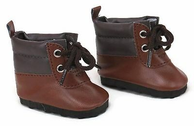 746b43abe4ef8 BROWN HIKING BOOT Shoes Boy made to fit 18 inch American Girl Doll Clothes