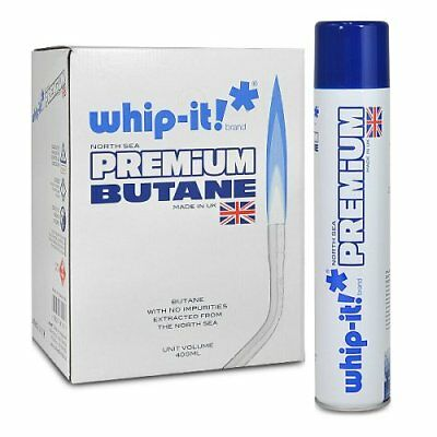 12 cans 1 case Whip-it! 400ml Premium Refined Butane Fuel Zero Impurities