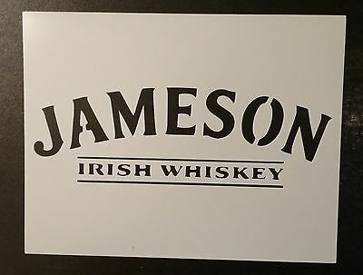 "Jameson Irish Whiskey 11"" x 8.5"" Custom Stencil FAST FREE SHIPPING"