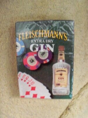 1992 Fleischmann's Extra Dry Gin Poker Size Playing Cards Sealed Package