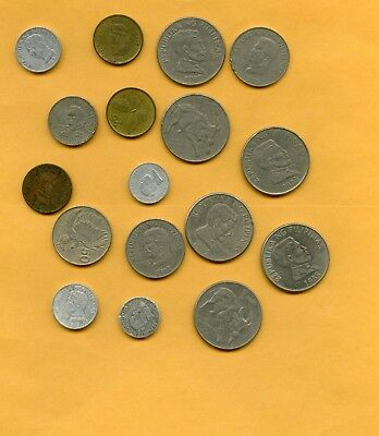 Philippine Coins 1980's 15 coins great for collectibles 6 different coin types
