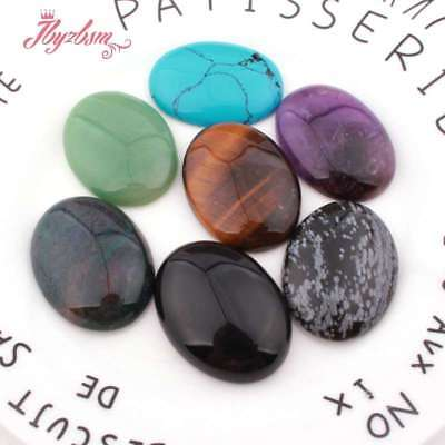 30x40mm Oval CAB Cabochon Flatback Dome Undrilled Stone For Jewelry Making 5 Pcs