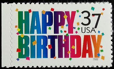2002 37c Happy Birthday, Confetti Scott 3695 Mint F/VF NH