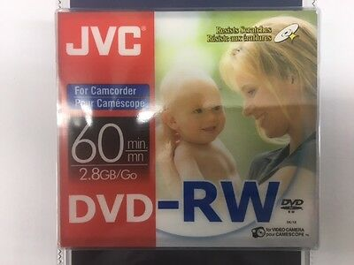 JVC  8cm Camcorder Discs DVD-RW - Pack Of 2 - 60 Minutes Double Sided