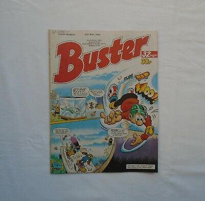 Buster Comic 20th May 1989 - Melvyns Mirror / Ivor & Tony / My Dad Mum / Vid Kid