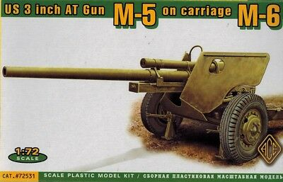 ACE 72531 - US 3 inch AT Gun M-5 on carriage M-6 - 1:72