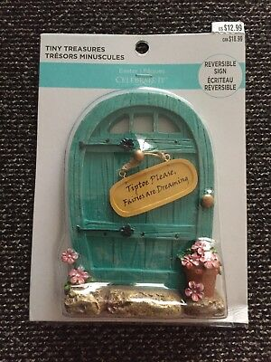 Celebrate It Tiny Treasures Easter Mini Village decoration Fairy Door!