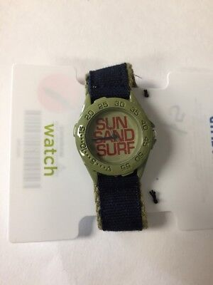 NWT Gymboree Boy SUN SAND SURF Watch Blue Green ONE SIZE