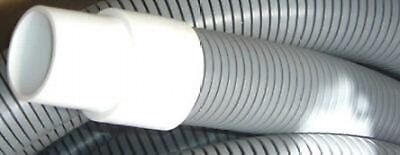 "50' Vacuum Hose Gray 2"" with Cuffs Carpet Cleaning Tuflexx"