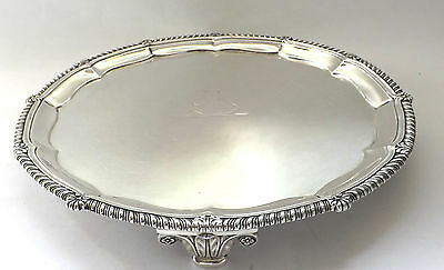 Paul Storr LARGE Salver Waiter Tray Classic Georgian Solid Sterling Silver 1812