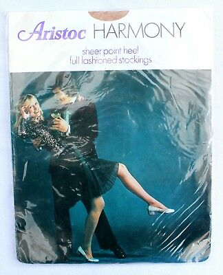 f2d127af9a9 Vintage ARISTOC HARMONY Seamed Stockings Sheer Heel Point Fully Fashioned Size  9