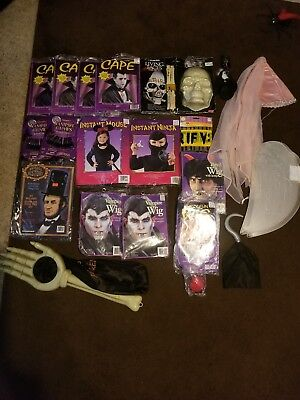Huge Lot Of Halloween Costumes-Vintage Capes, Wigs, Cosplay Items, Adult&child