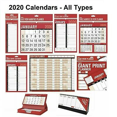 2019 wall calendar slim calender large month to view planner easy