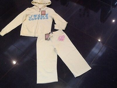 NWT Juicy Couture New & Gen. Girls Age 8 Yellow Cotton Crop Leg Tracksuit & Logo