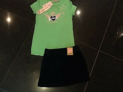 NWT Juicy Couture New & Genuine Velour Skirt & T.Shirt Set Girls Age 8 & Logo
