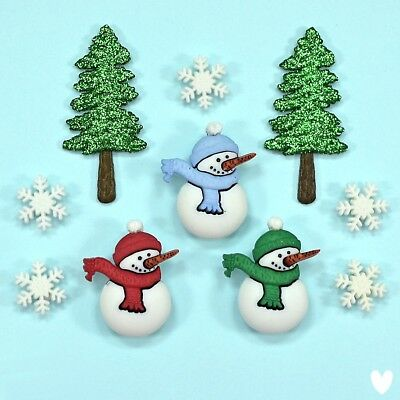 DRESS IT UP Buttons Have a Cool Yule  2465  Snowman Christmas Snowmen Snow Tree