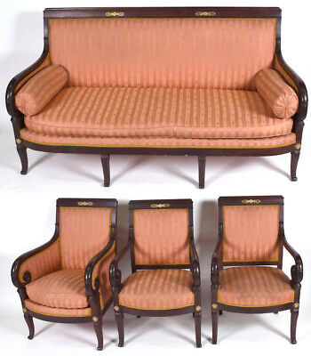 Alexandre Maigret - Set of Furniture - France - 19th Century Armchairs & Settee