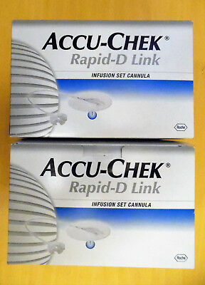 Accu Chek Rapid-D Link  Infusions set cannula (2 Packungen) NEU
