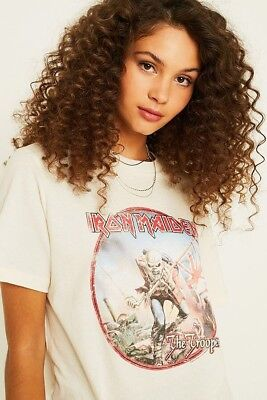 e0aeb43c Urban Outfitters Iron Maiden Band Tee Vintage T-Shirt Size Medium Rrp £29.00