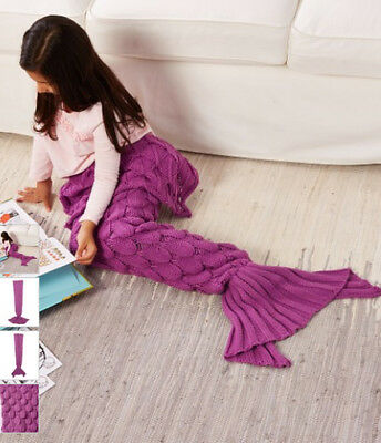 Moda Up Scaled Mermaid Tail Blanket (Violet) Brand New in Packaging