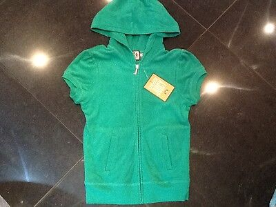 "NWT Juicy Couture New & Gen. Ladies Small Green Towelling Hoody With ""J"" Pull"