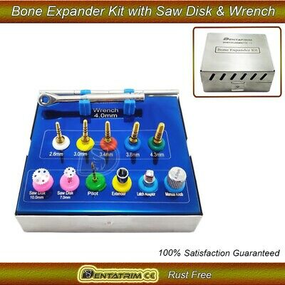 Bone Expander Trephine Sinus Lift Saw Disk Dental Implant Oral 12 Pcs Kit
