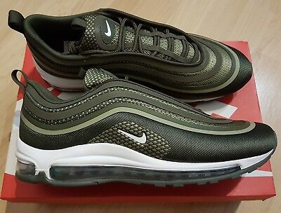 NIKE AIR MAX 97 UL ´17 Khaki Green White Grey 43 8.5 9.5 Grün Weiß Grau