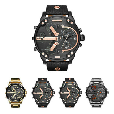 Big Dial Men's Watch Quartz Steel Strap Sports High Quality Durable Hot Sale