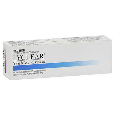 Lyclear Scabies Cream 30G For Scabies Infestation Permethrin 5% W/w Dermal
