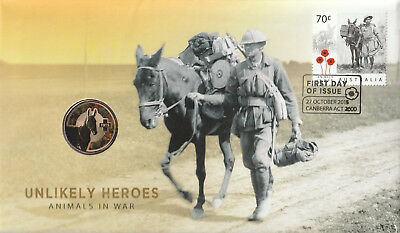 Australia 2015 : Unlikely Heroes - Animals in War, PNC Mint Condition