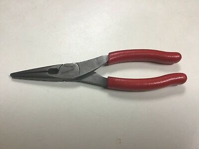 Snap-On Tools USA RED Talon Grip Needle Long Nose Pliers w/ Cutter 196CF