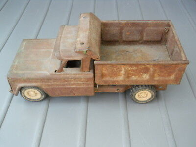 Vintage Structo Dump Truck HOM-PAH Made in USA Antique Metal Toy Genuine Patina