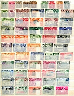 Cayman Islands  ** 60 Mint Stamps ** 1901 - 1963