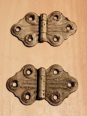 "Vintage Pair/Set Craftsman Hinges 1 5/8"" Tall Restoration Salvage"