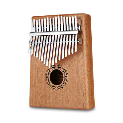 17 Keys Kalimba Thumb Piano Mahogany Body Musical Instrument with Learning Book